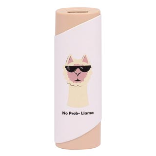 Byte No Prob-Llama Power Bank - Cream