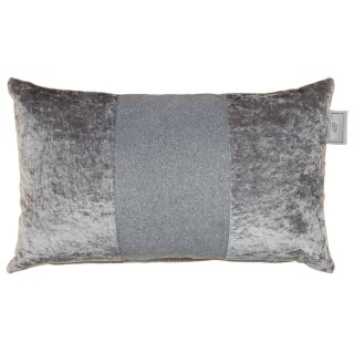 Karina Bailey Sparkle Crushed Velvet Cushion - Silver