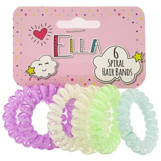 Ella Spiral Hair Bands 6pk