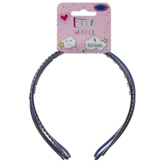 Ella School Hair Accessories - Assorted Headbands (Blue)