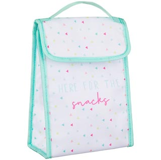 Insulated Lunch Box Food Bag - Triangles