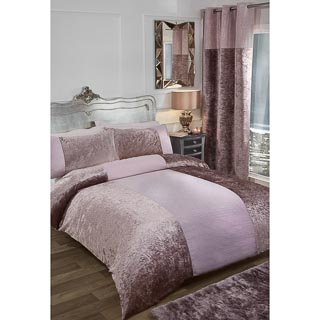 Karina Bailey Sparkle Double Duvet Set - Blush