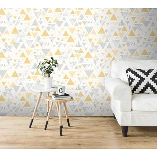 Chantilly Wallpaper - Yellow & Grey