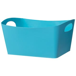 Large Rectangular Storage Basket - Blue