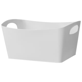 Large Rectangular Storage Basket - White