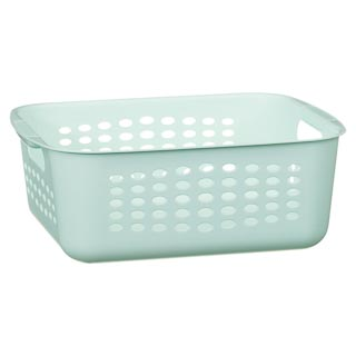 Rectangular Storage Basket with Handles - Mint