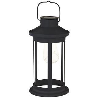Solar Lantern with Micro LED Bulb - Black