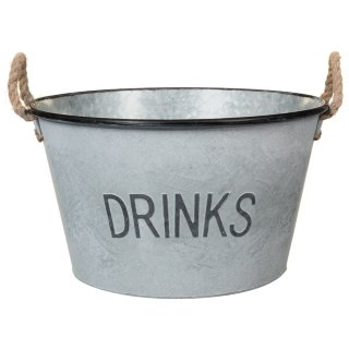 Large Galvanised 'Drinks' Bucket Planter