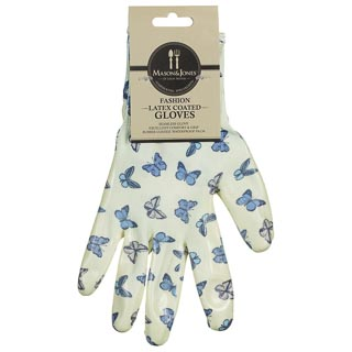 Mason & Jones Latex Coated Gloves - Blue Butterfly