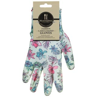 Mason & Jones Latex Coated Gloves - Blue Flowers