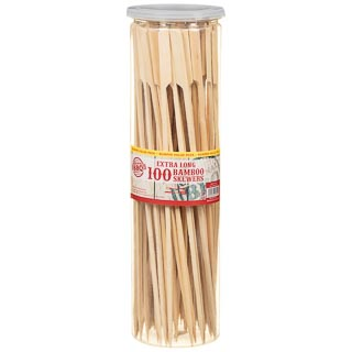 Extra Long Bamboo BBQ Skewers 100pk