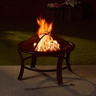 Tuscany Bronze Effect Fire Pit