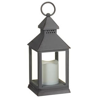 Small LED Lantern - Grey