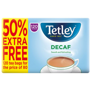 Tetley Decaf Tea Bags 120pk