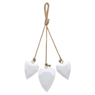Decorative Wooden Hearts - White