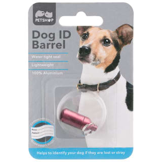 Dog ID Collar Barrel - Pink