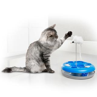 Cat Ball Chaser with Mouse - Blue