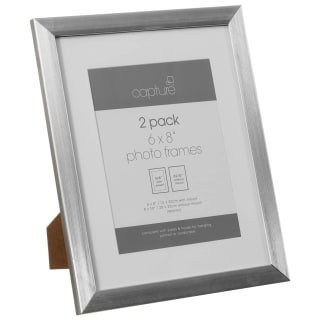 Basic Metallic Picture Frames 2pk - Silver