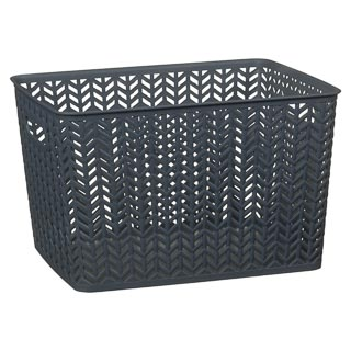Large Chevron Storage Basket - Grey