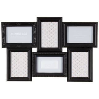3D Vintage Aperture Photo Frame 6pc - Black