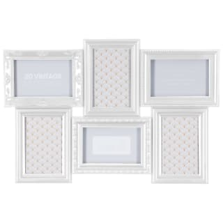 3D Vintage Aperture Photo Frame 6pc - White