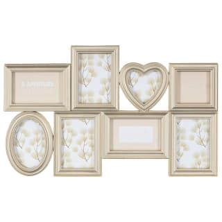 Heart Aperture Photo Frame 8pc - Gold