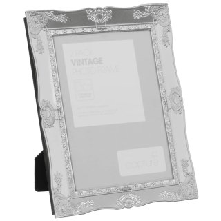 "Metallic Vintage Photo Frames 5 x 7"" 2pk - Silver"