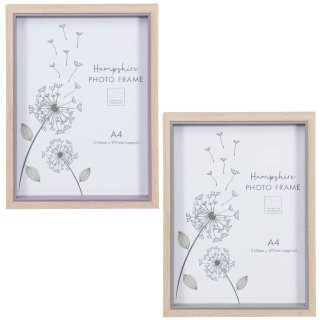 Hampshire Wooden Frame A4 - Grey