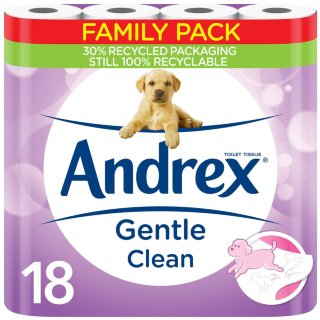 Andrex Gentle Clean Toilet Tissue 18pk