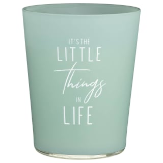 Slogan Candle Jar - Little Things in Life