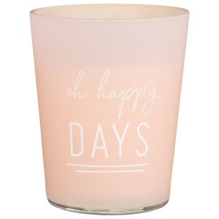 Slogan Candle Jar - Oh Happy Days