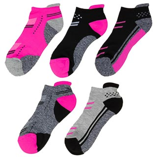 Ladies Active Trainer Liner Socks 5pk