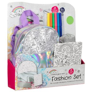 Colour Your Own Fashion Stationery Set - Unicorn