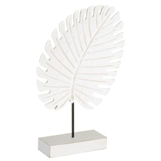 Tropical Leaf Ornament - White