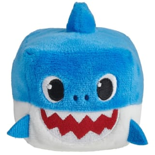 Plush Baby Shark Cube - Blue