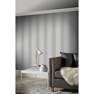 Decoris Stripe Wallpaper - Silver