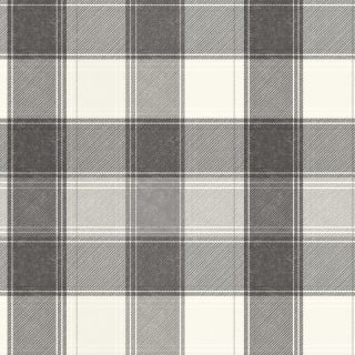 Country Check Wallpaper - Mono