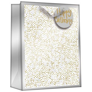 Gift Bag with Age Stickers - Silver