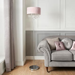 Hanging Jewel Floor Lamp - Blush