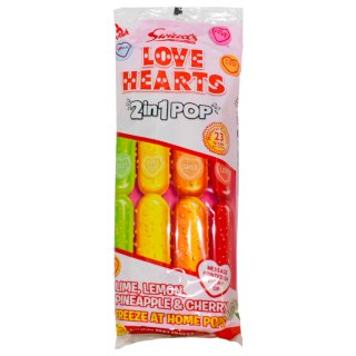 Swizzels Love Hearts 2-in-1 Ice Pops 8pk