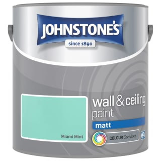 Johnstone's Paint Vinyl Matt Emulsion - Miami Mint 2.5L