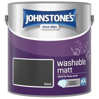 Johnstone's Washable Matt Paint - Black 2.5L