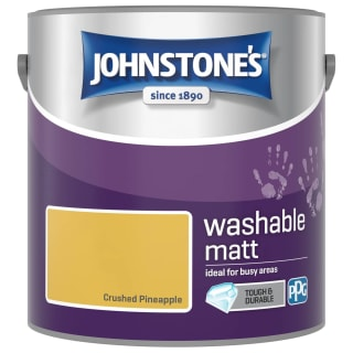Johnstone's Washable Matt Paint - Crushed Pineapple 2.5L