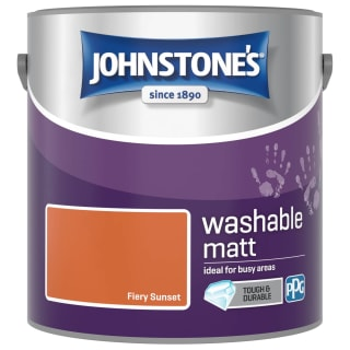 Johnstone's Washable Matt Paint - Fiery Sunset 2.5L