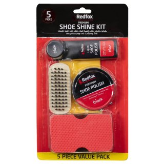 Red Fox Shoe Shine Kit 5pc