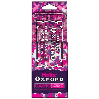 Helix Oxford Maths Tin Set - Pink