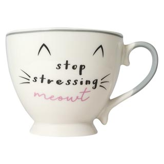Cat Slogan Mug - Stop Stressing Meowt