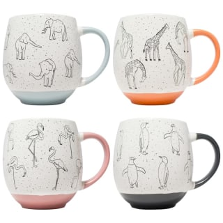 Animal Print Dip Mug - Flamingo