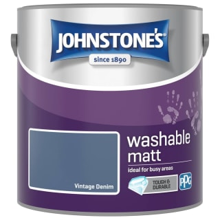 Johnstone's Washable Matt Paint - Vintage Denim 2.5L