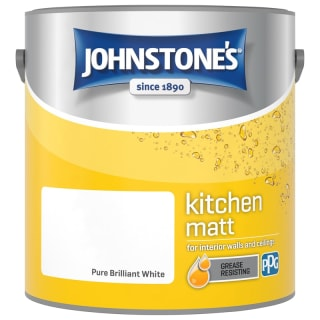 Johnstone's Paint Kitchen Matt - Pure Brilliant White 2.5L